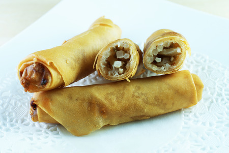 Malay traditional food - Kuih Popia or Fried Popiah or Spring Rolls
