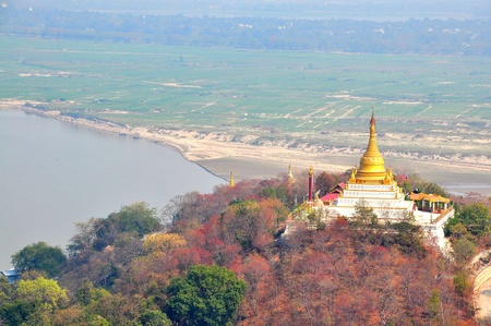 Pagodas on the top of Sagaing Hill, Myanmar  Burma Stock Photo - 18706131