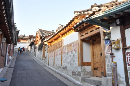 Bukchon Hanok Village  Seoul, South Korea  is home to hundreds of traditional houses called  hanok  that date back to the Joseon Dynasty