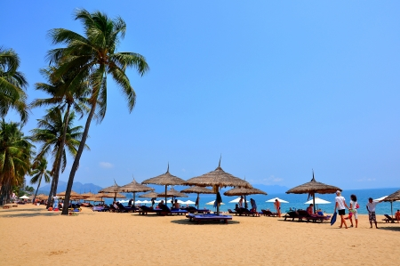 Nha Trang beach  Nha Trang is a coastal city in Vietnam, famous with beautiful beaches and bays