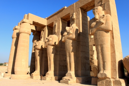 luxor: Ramesseum temple, Egypt  It located in the West bank of Luxor city, Egypt