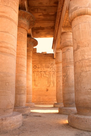 valley of the temples: Ramesseum temple, Egypt  It located in the West bank of Luxor city, Egypt