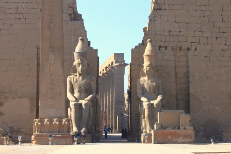 ancient egyptian civilization: Luxor temle is the second biggest temple in Luxor city, Egypt Stock Photo