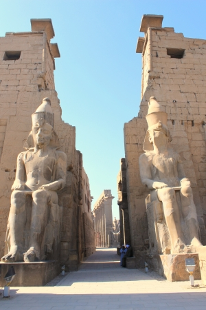 ancient egyptian civilization: Luxor temple is the second biggest temple in Luxor city, Egypt Stock Photo