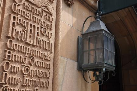 tudor: Beautiful wall at Tudor city, New York city, USA