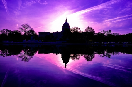 US Capitol, Washington DC, USA in sunrise photo