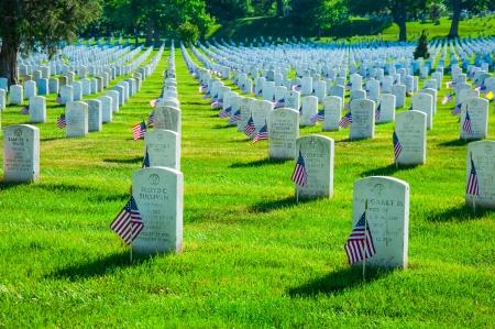华盛顿特区附近的阿灵顿国家公墓,这是阵亡将士纪念日