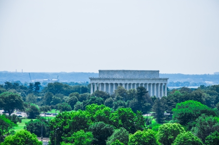 Lincoln memorial, elevated view, Washington DC, USA