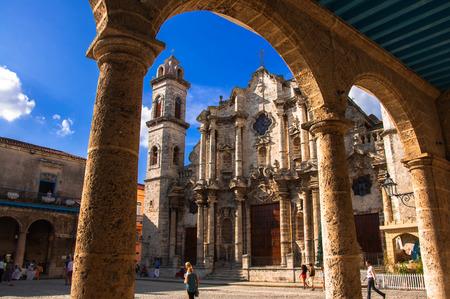 Kathedrale von Havanna, Kuba im Sonnenuntergang Standard-Bild - 26623810