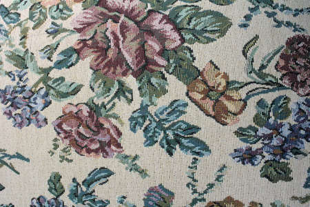 napped: a carpet structured texture in different green colors
