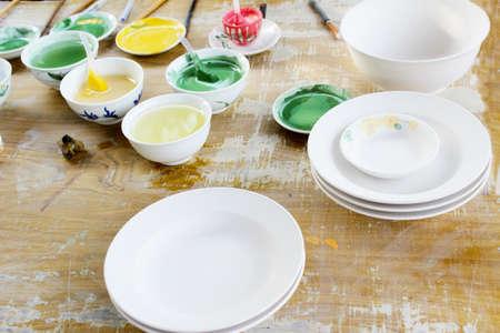 glazes: HAI DUONG, VIETNAM, April 27: new ceramics and glazes on April 27, 2013 in Chu Dau ceramic, Hai Duong, Vietnam.