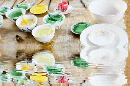 glazes: HAI DUONG, VIETNAM, April 27  new ceramics and glazes on April 27, 2013 in Chu Dau ceramic, Hai Duong, Vietnam   Editorial