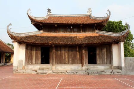 temple in the traditional architectural style of the east, Hai Duong, Viet Nam