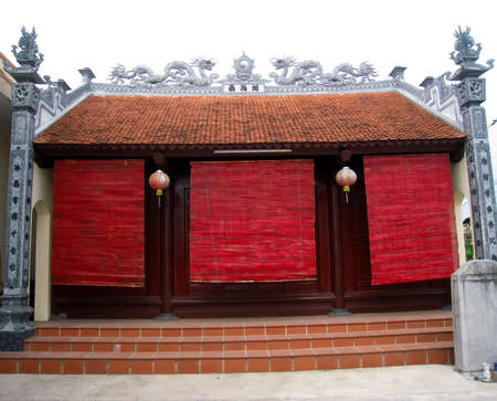 temple of gods, Buddha built in the traditional architectural style of the east, Hai Duong, Viet Nam