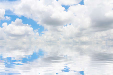 horizon over water: clouds over the water Stock Photo
