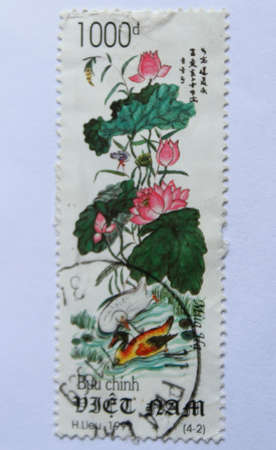 VIETNAM - CIRCA 1999: A stamp printed in Vietnam shows summer, circa 1999 photo