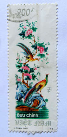VIETNAM - CIRCA 2001: A stamp printed in Vietnam shows summer, circa 2001 photo
