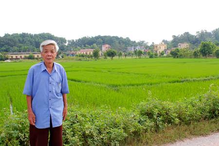 adult vietnam: HAI DUONG, VIETNAM, September, 8: Asian old man says and smiles on September, 8, 2013 in Hai Duong, Vietnam
