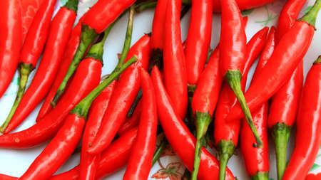 the chillis in the basket   photo