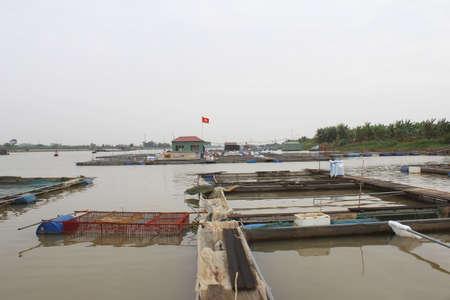fish farm in river