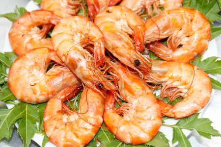 fried shrimp Stockfoto