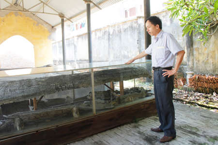 Haiduong, Vietnam, may, 28: Archaeologists and ancient tombs on may, 28, 2015 in Hai Duong, Vietnam
