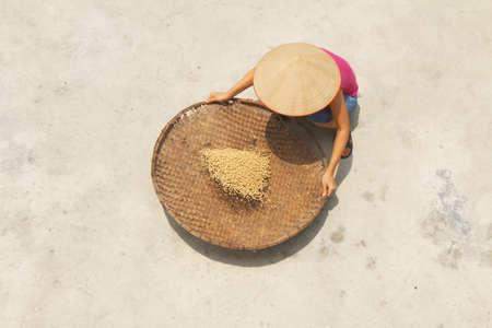 girl and beans Stok Fotoğraf