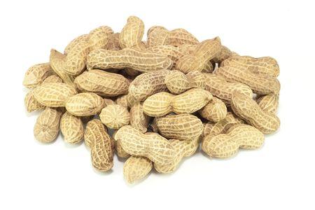 Peanut with isolated background photo