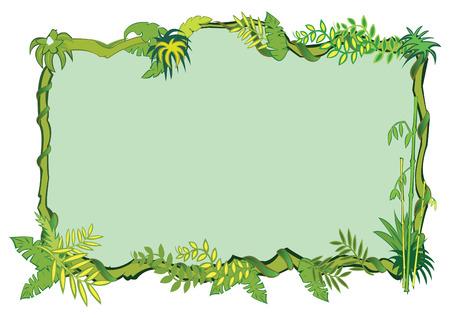 Jungle frame concept Illustration