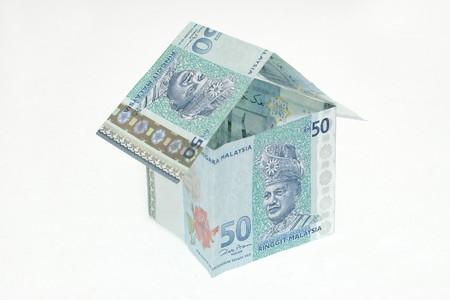 Malaysia Money House with Isolated White Background