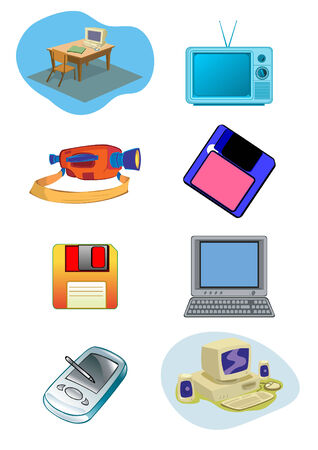 Electrical and Computer Equipment Illustration Vector