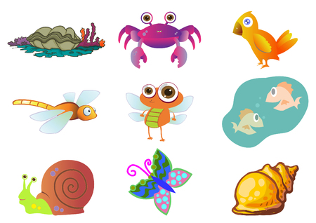 Assorted Cute Animal Concept for Children Illustration Stock Vector - 6992910