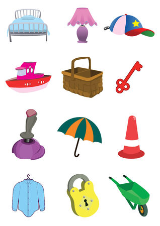 Assorted Children Cute Toys Items Stock Vector - 6992880