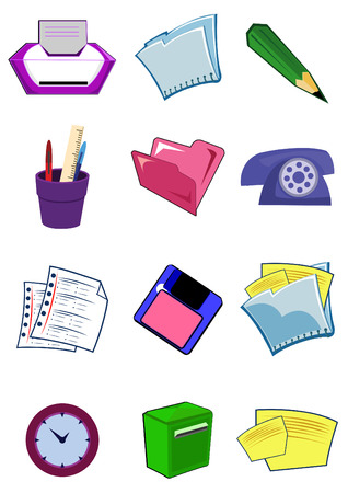 Office equipment and stationery illustration Vector