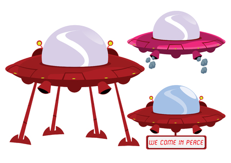 flying saucer: Alien Terrestrial Spacecraft  Concept Illustration Illustration