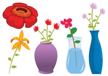 Assorted flower of nature illustration Illustration