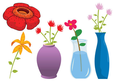 flowers in vase: Assorted flower of nature illustration Illustration