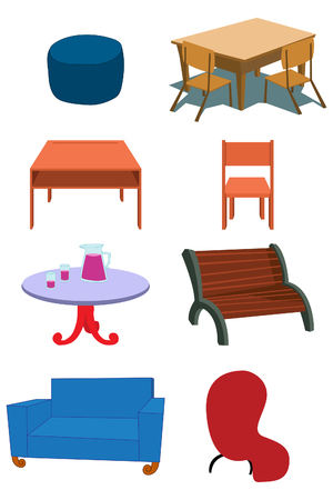 Assorted Furniture Equipment concept Stock Vector - 7049616