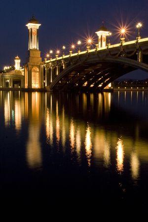 Night Scene of a Bridge at Putrajaya, Malaysia