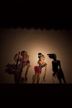 puppet show: A Tradtional Malaysian Shadow Puppet Show (Wayang Kulit) Stock Photo