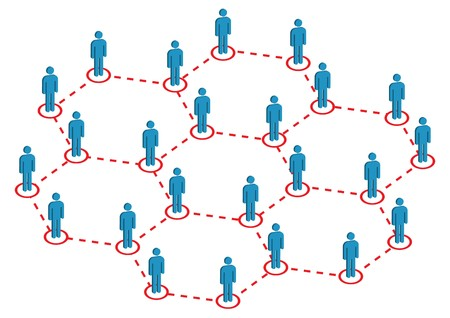 Global Human Distribution Illustration