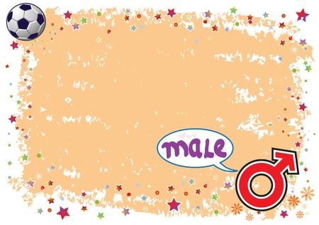 Male Symbol in Colourful Illustration Stock Vector - 7479965