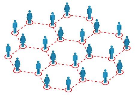 Global Illustration de distribution hommes femmes  Vecteurs