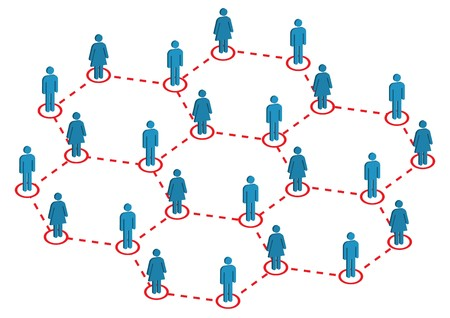 Wereldwijde Female Male distributie illustratie  Vector Illustratie