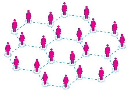 Global Female Distribution Illustration  Illustration