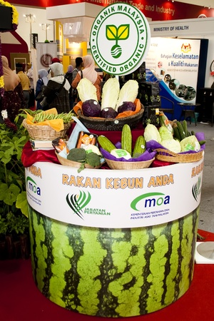 stockman: KUALA LUMPUR - NOVEMBER 30 : MOA Certified Organic Malaysia product on display during Malaysian Agriculture, Horticulture and Agrotourism Show (MAHA) on November 30, 2010 in Kuala Lumpur, Malaysia.
