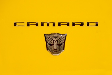 KUALA LUMPUR, MALAYSIA - DEC 8: A close up on the insignia of the Autobot on Chevrolet Camaro from Transformers during Kuala Lumpur International Motor Show (KLIMS) on December 8, 2010 in Kuala Lumpur Malaysia. Editorial