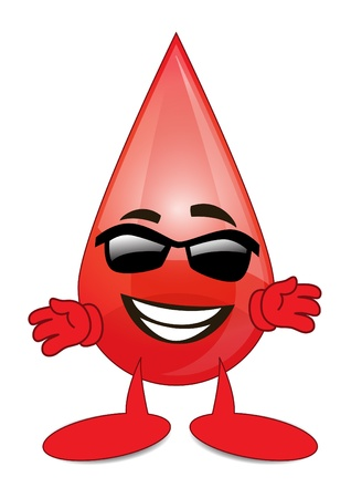 Sun Glass Blood Cartoon Character Vector