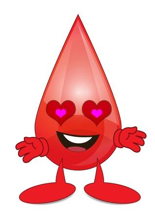 Loving Blood Cartoon Character Vector