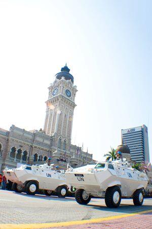 KUALA LUMPUR, MALAYSIA-MAR 5:Armoured vehicle Rheinmetall Condor were showcase at the 78th Army Anniversary Celebrations on Mar 5, 2011 in Kuala Lumpur, Malaysia. Malaysia spends 1.9 percent of its GDP on military.
